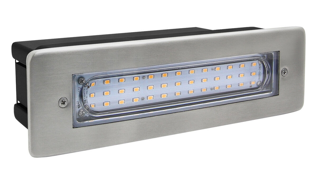 Details about LED Brick Light Wall Light Recessed Stainless Steel in Warm White IP68