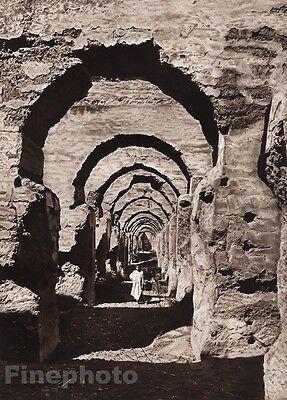 1924 Original MOROCCO Meknes Haras Ruins Architectcture Art By FLANDRIN Lehnert