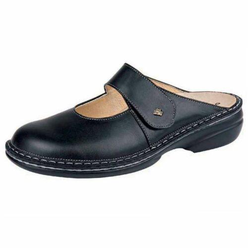 Finn Women/'s Stanford Leather Comfort Clog Black Nappa 2552-014099