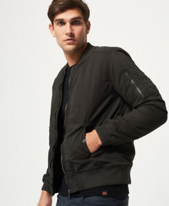 Superdry-Hombre-Cazadora-bomber-Rookie-Winter-Duty-Bitter-Negro