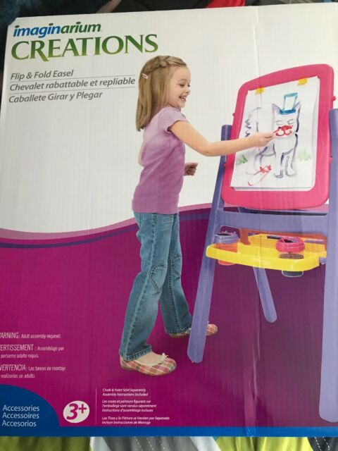 Imaginarium Creations Flip Fold Easel Pink And Purple 4 In One