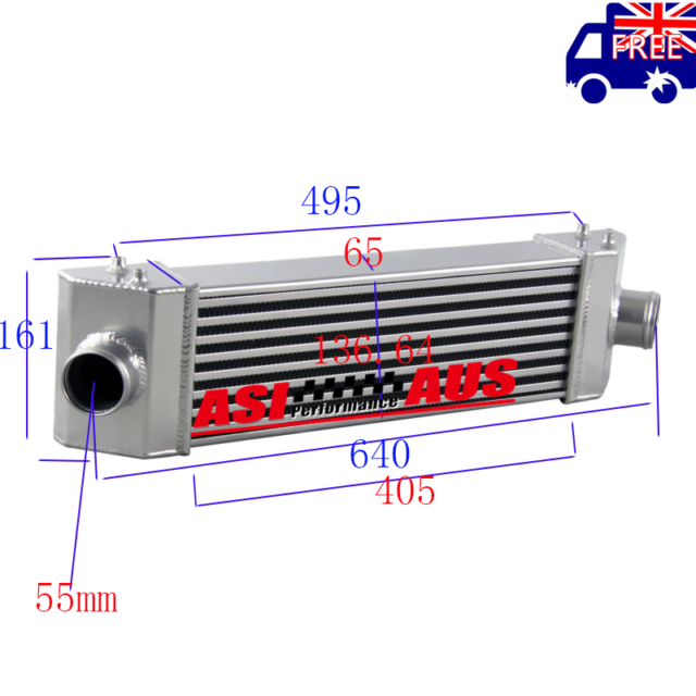 Turbo Intercooler For 2006-2018 FORD TRANSIT MK7/8 RWD FWD Aluminum 10 11 12 13