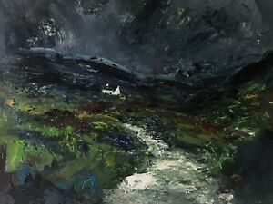 ORIGINAL-PAINTING-Acrylic-On-Canvas-Rainy-Day-Snowdonia-40x30cm