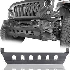 Fit For 07 18 Jeep Wrangler Jk Skid Plate For Front Bumper Texture Black Steel