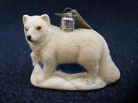Merck Old World Christmas Owc Glistening Arctic Fox Ornament W Tags (o3129)
