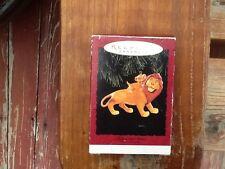 Disney's The Lion King Mufasa and Simba Hallmark Keepsake Ornament W/Box