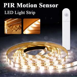Battery-Powered-LED-Strip-Light-Wireless-PIR-Motion-Sensor-Cabinet-Wardrobe-Lamp