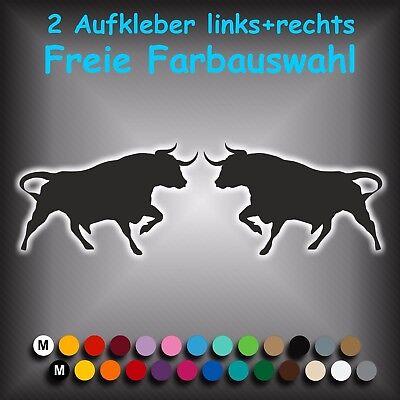 JDM Autoaufkleber Sticker Decal 15,4 x 18  cm Aufkleber Spanischer Stier 2 Stck
