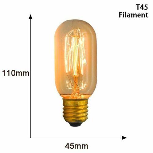Vintage Bulb Edison Lamp 40W 220V ST64 T45 G80 G95 G125 Ampoule Filament Retro