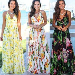 Womens-Boho-Long-Maxi-Dress-Ladies-Cocktail-Party-Evening-Summer-Beach-Sundress