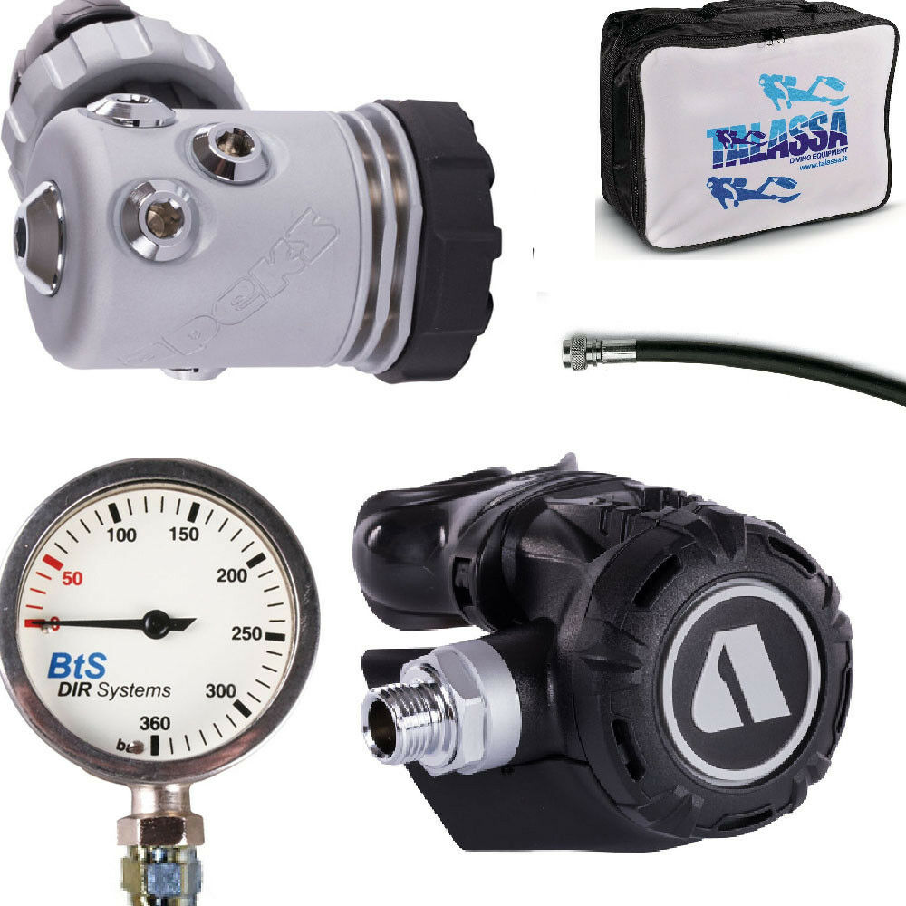 LO3 DIR SECONDARY regulator Apeks XL4  DIN300 + DIR GAUGE AND HOSES