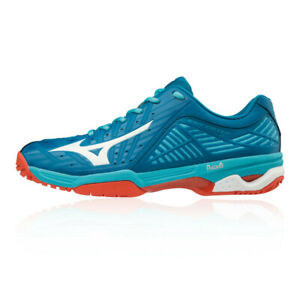 Mizuno Mens Wave Exceed Tour 3 All Court Tennis Shoes Blue Breathable Trainers