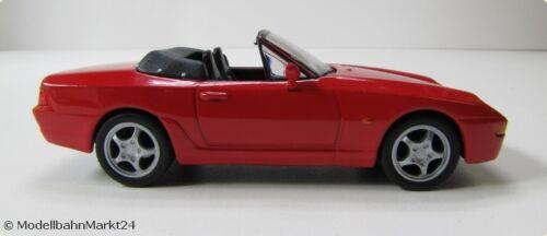 PORSCHE 968 Cabrio 1993 Rosso Scale 1:43 SCATOLA ORIGINALE