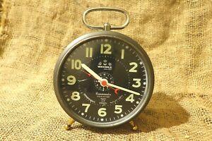 RARE-VINTAGE-ALARM-CLOCK-WEHRLE-COMMANDER-FOUR-IN-ONE-NITEGLO-OLD-NEW-GERMAN-65