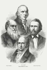 Proponents-of-Darwinism-Charles-Darwin-1873-Engraving-Art-Print-Poster-12x18