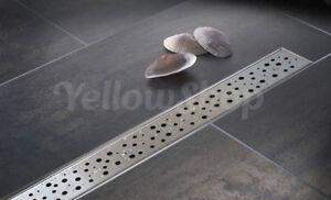 Canalina scarico doccia pavimento canale e griglia acciaio inox