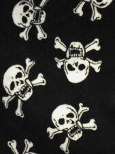 Polar fleece anti pill fabric Premium Quality soft gothic skull bon print Craft