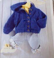 Knitting pattern Hooded Cardigan/Jacket Baby/Toddler/Child Snowflake DK