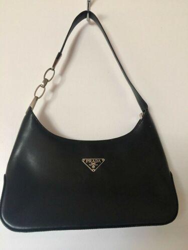 Black Leather Prada Milano Purse