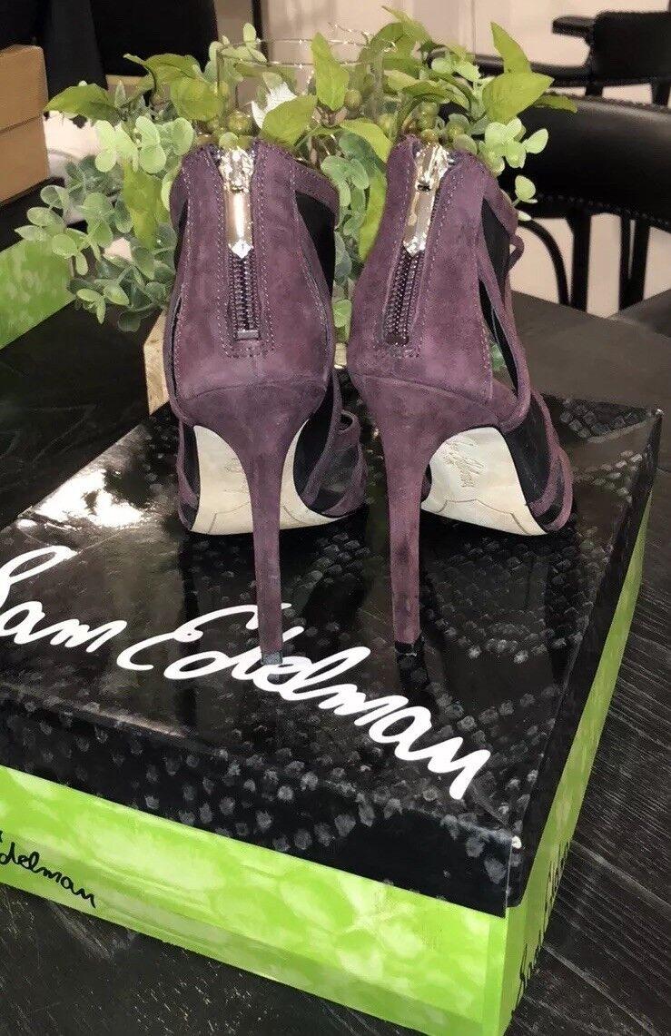 Sam Sam Sam Edelman Pompei Burgundy Mesh Cage Open Toe Heels Pumps Größe 6  165 872df6
