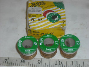 image is loading tl-30-buss-fuse-30-amp-vintage-applications-