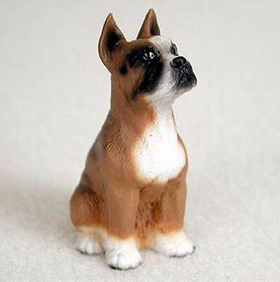 BOXER (CROPPED EARS) TINY ONES DOG Figurine Statue Pet Lovers Gift Resin