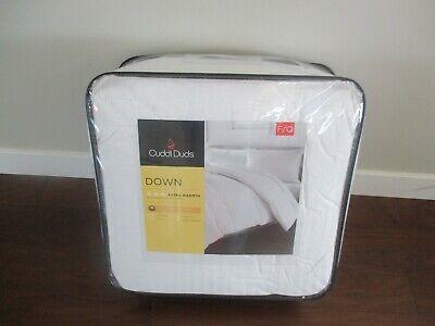 F//Q White BNWT Cuddl Duds Down Heavyweight Warmth Comforter $410