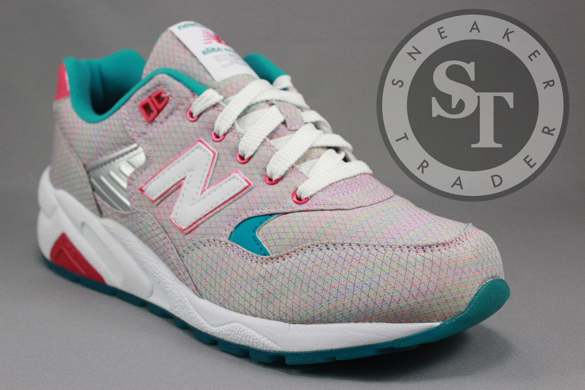 NEW NEW NEW BALANCE CLASSICS WOMEN'S WRT580AK SORBET PACK GREY RAINBOW CORAL SIZE: 6 620722