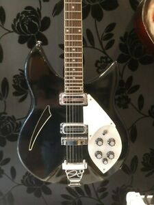 Details about Indie IRK 5 Beatles Style Guitar Black with genuine mods  excellent condition