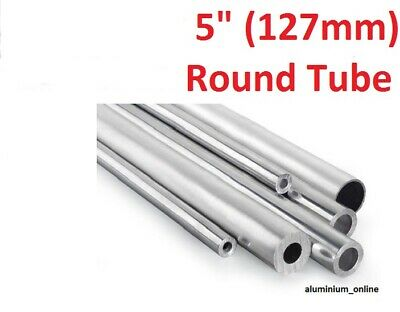 """lengths up to 2500mm 2.5m ALUMINIUM ROUND TUBE 5/"""" 127.0mm 1 thickness"""