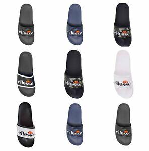 Ellesse Men's Sliders Slip Ons Pool Summer Sandals in Black White Navy Camo