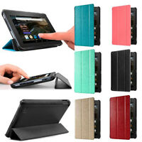Ultra Slim Leather Case Stand Fit Cover for Amazon Kindle Fire HD 7 2015 Tablet