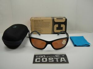 4ef2b55229 COSTA DEL MAR POLARIZED SUNGLASSES FISCH FS11 OCP BLACK COPPER 580P ...