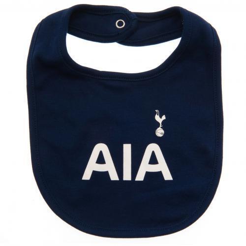 Tottenham Hotspur FC Spurs Official Football Gift 2 Pack Kit Baby Bibs
