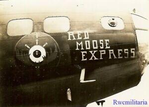Org-Nose-Art-Photo-B-17-Bomber-034-RED-MOOSE-EXPRESS-034