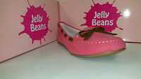 Jelly Beans Heart Girls Shoes Black / Beige / Brown / Coral / Green Bow Size 9-4