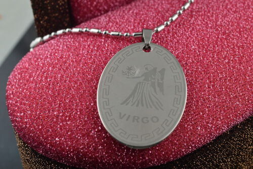 Unisex Creative Stainless Steel Chain 12 Zodiac Signs Pendant Necklace Colorfast