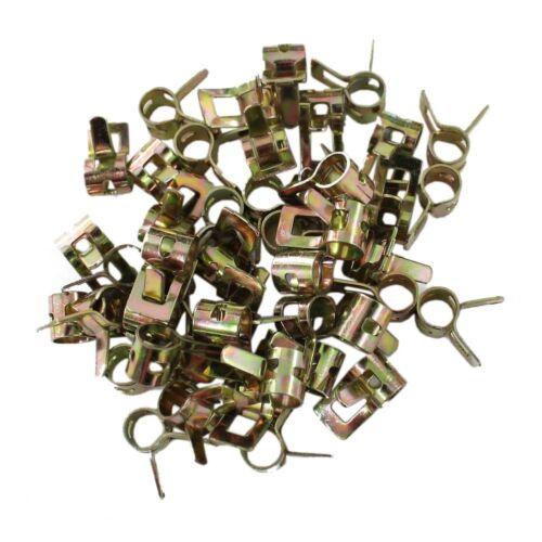 50 X Hose Spring Clip Clamp 5mm 3//16 inch Steel Vacuum Fuel Oil Hose Line