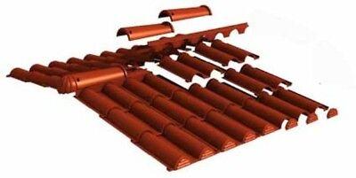 Baustoffe & Holz Süß GehäRtet Kunststoff Dachziegel Dachpfannen Rundfirst Komplettpaket Dach Für Gartenhaus