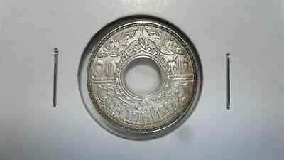 Uncirculated Thailand 1941 Silver 10 Satang Y#56