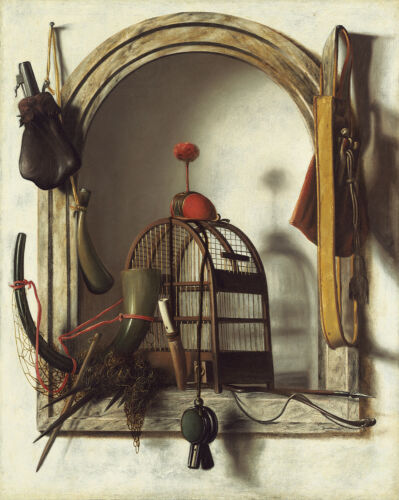 PAINTING PIERSON NICHE WITH FALCONRY GEAR XXL POSTER WALL ART PRINT LLF0386