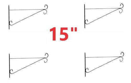 """4 x 15/""""  GARDEN HANGING BASKET WALL BRACKETS SUIT 15/"""" DIAMETER PATIO PLANTERS"""