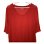 thumbnail 2 - Ann Taylor Loft Womens Scoop Neck Top Short Sleeves Pleats Red Shirt Size Large
