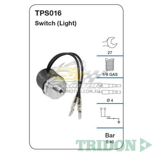 SOHC 8V  TPS016 4ZE1 TRIDON OIL PRESSURE FOR Holden Jackaroo 07//88-03//92 2.6L