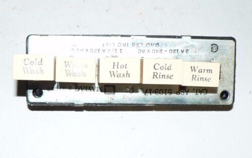 MAYTAG GENUINE OEM WASHER 5-BUTTON TEMPERATURE SWITCH #203158 #2-3158 #2-03158