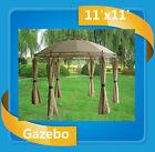 Steel Gazebo - 11'x11' Deluxe Steel Frame Canopy - Beige