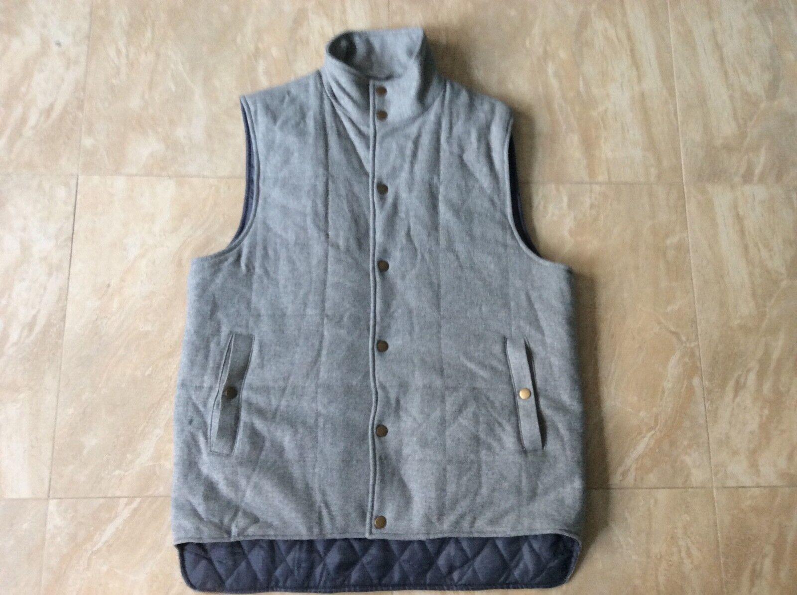 Men's grau Spectre & Co. Wool Bodywarmer Vest Größe XL