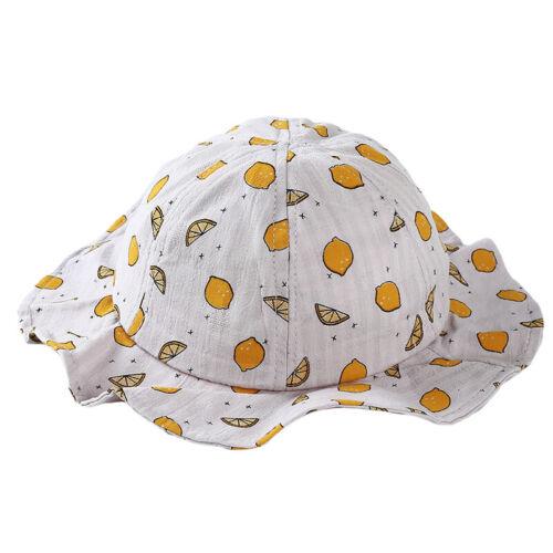 Wide Brim Baby Sun Hat Kids Bucket Cap Summer Beach Girls Travel Sun Hats W