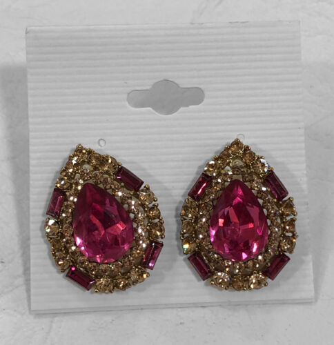 ANTIQUE GOLD INDIAN CRYSTAL STUDS CRYSTAL TIER DROP STUDS ballroom earrings