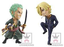 NEW!! Banpresto One Piece WCF World Collectable Figure Fight!! Zoro vs Sanji Set